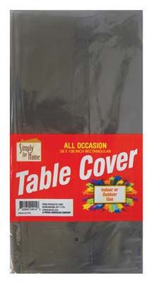 View PLASTIC TABLE COVER 54 X 108 INCH BLACK
