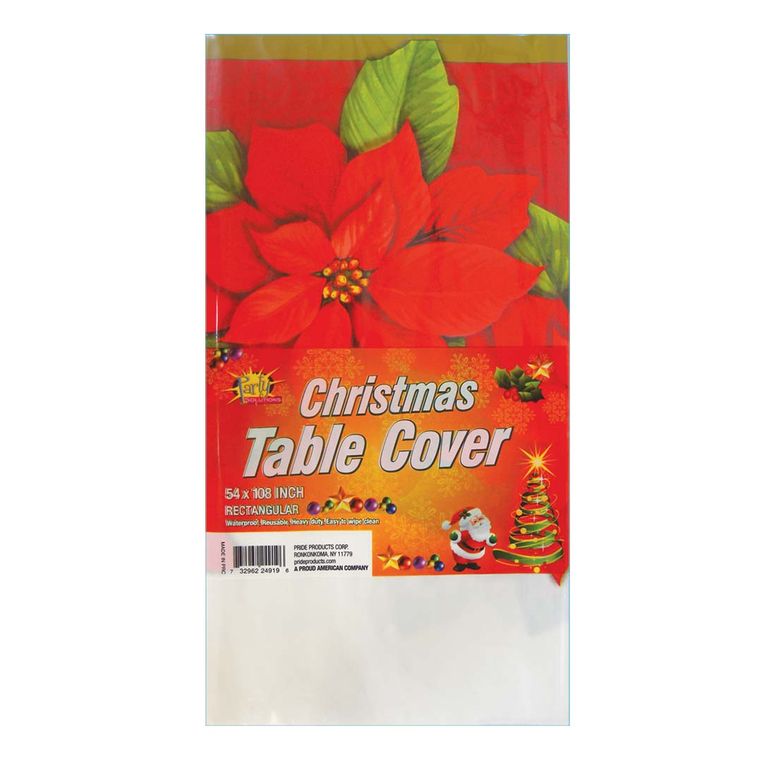 View PLASTIC TABLE COVER 54 X 108 INCH CHRISTMAS