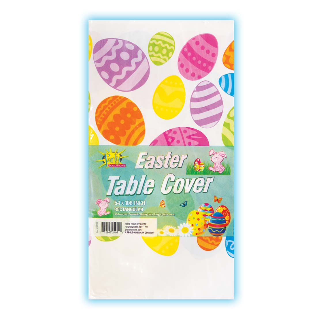 View PLASTIC TABLE COVER 54 X 108 INCH EASTER