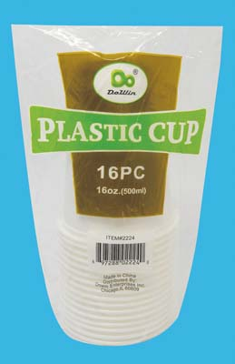 View PLASTIC CUP 16 OUNCE 16 PACK SOLID WHITE