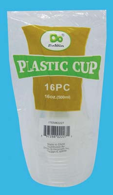View PLASTIC CUP 16 OUNCE 16 PACK CLEAR