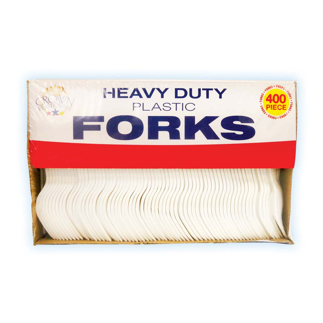 View PLASTIC CUTLERY FORK 400 COUNT IN CUTOUT BOX
