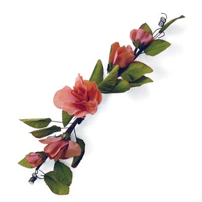 View HAND WRAPPED FLOWER SWAG 19 INCH LONG PREPRICED $2.99 ASSORTED COLORS