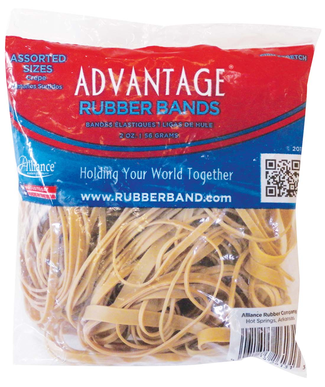 View ADVANTAGE RUBBER BANDS 2 OZ ASSORTED SIZES **MADE IN USA**