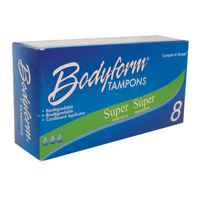 View BODYFORM TAMPONS 8 CT SUPER