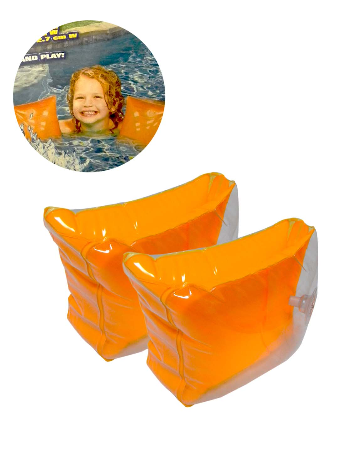 View BANZAI KIDS SWIM ARMBAND 8 X 5 INCH WITH REPAIR PATCH PREPRICED $1.00