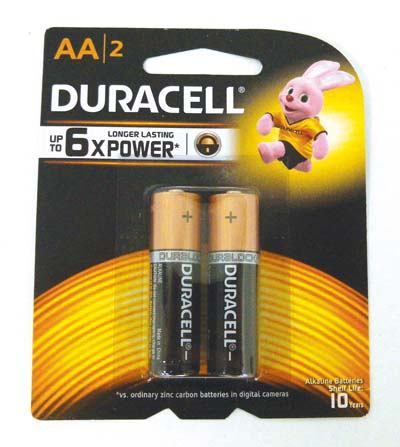 View DURACELL BATTERIES AA 2 PACK
