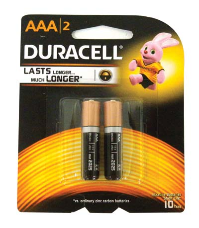 View DURACELL BATTERIES AAA2 PACK