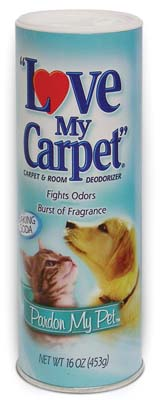 View LOVE MY CARPET CARPET & ROOM DEODORIZER 14 OZ PARDON MY PET