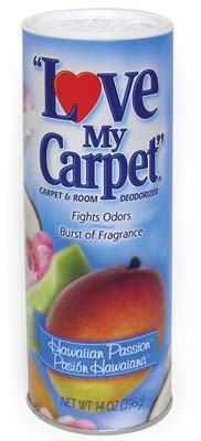 View LOVE MY CARPET CARPET & ROOM DEODORIZER 14 OZ HAWAIIAN PASSION