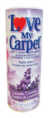 View LOVE MY CARPET CARPET & ROOM DEODORIZER 14 OZ LAVENDER DREAMS