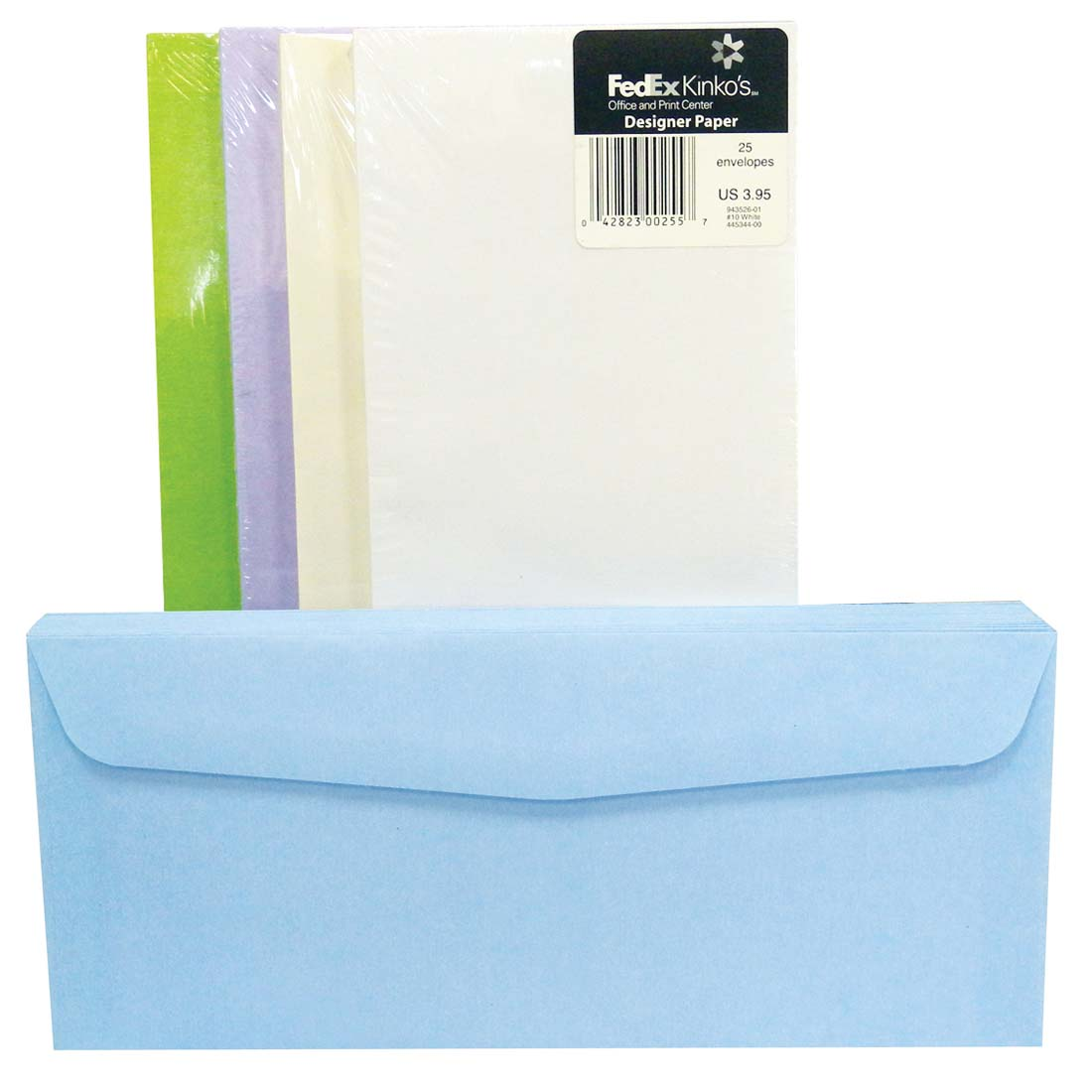 View FAMOUS BRANDS ENVELOPES 25 CT #10 ASSORTED COLORS PREPRICED $3.95