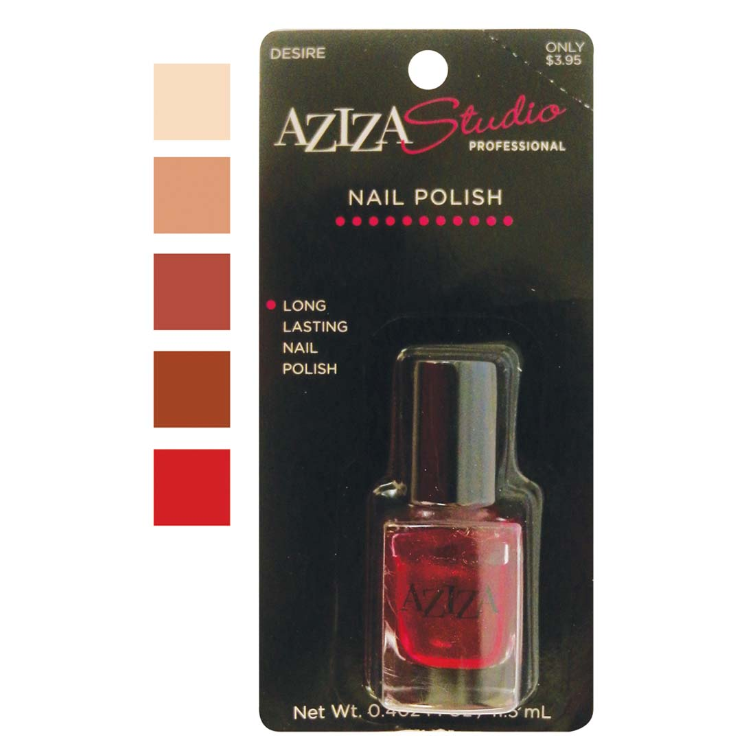 "View AZIZA PROFESSIONAL NAIL POLISH .40 OUNCE ASSORTED LOVE COLORS ""PREPRICED $3.95"""