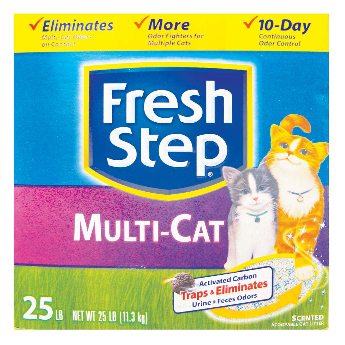 View FRESH STEP CAT LITTER 25 LB BOX MULTI-CAT SCENTED