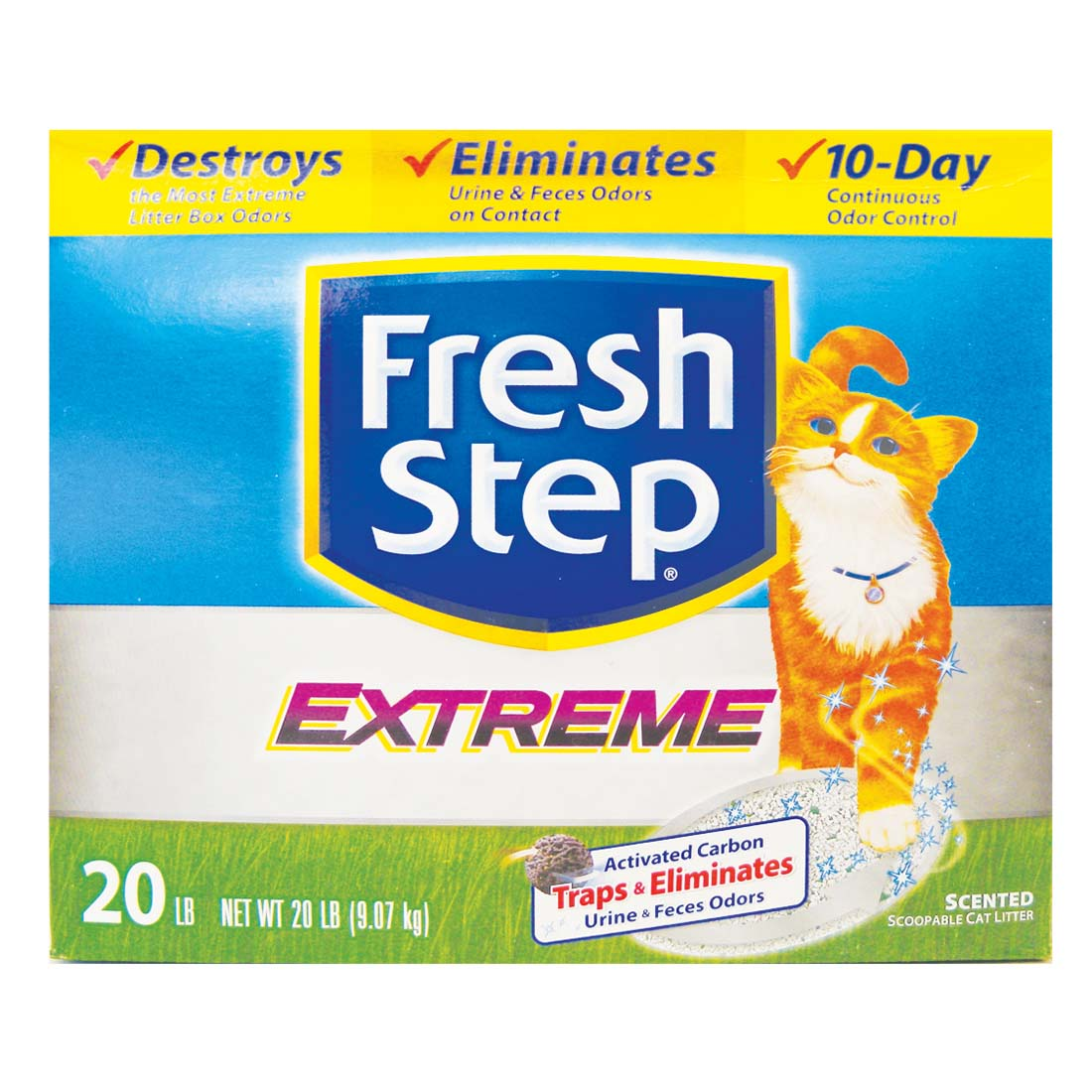 View FRESH STEP CAT LITTER 20 LB BOX EXTREME