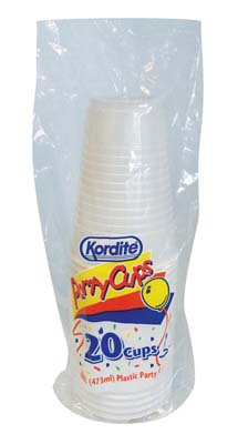View KORDITE PARTY CUPS 20 CT 16 OZ CLEAR