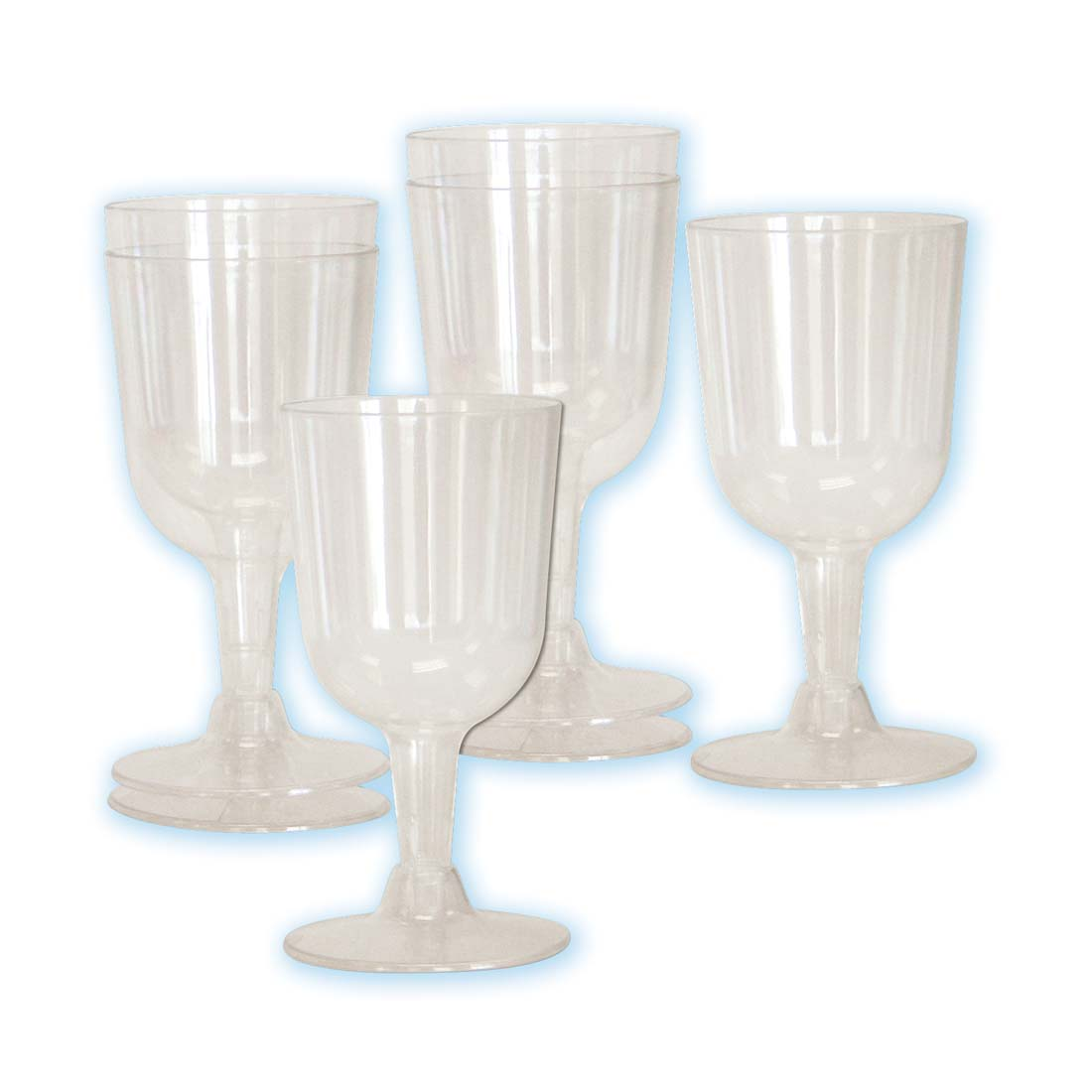 View PLASTIC WINE GLASS 6 CT 5 OZ CLEAR