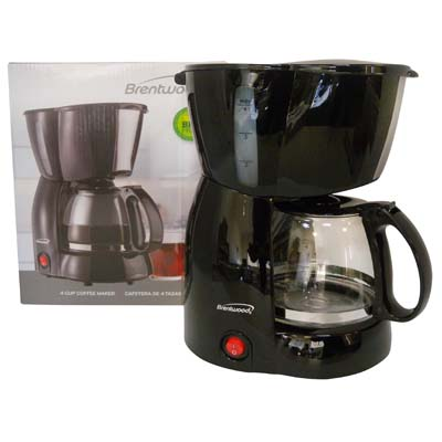 View BRENTWOOD COFFEE MAKER 4 CUP  BLACK CETL LISTED