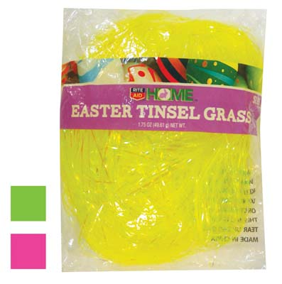 View EASTER GRASS 1.5 OUNCE NEON COLORS YELLOW PINK GREEN PREPRICED $2.99