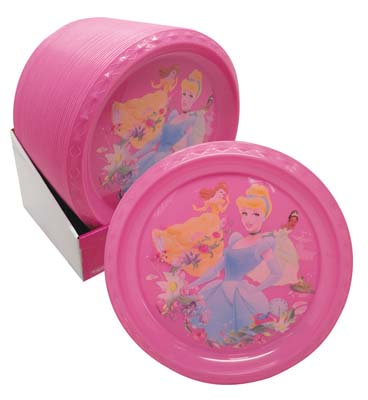 View DISNEY PLATE 8.5 INCH ROUND PRINCESS IN DISPLAY BPA FREE