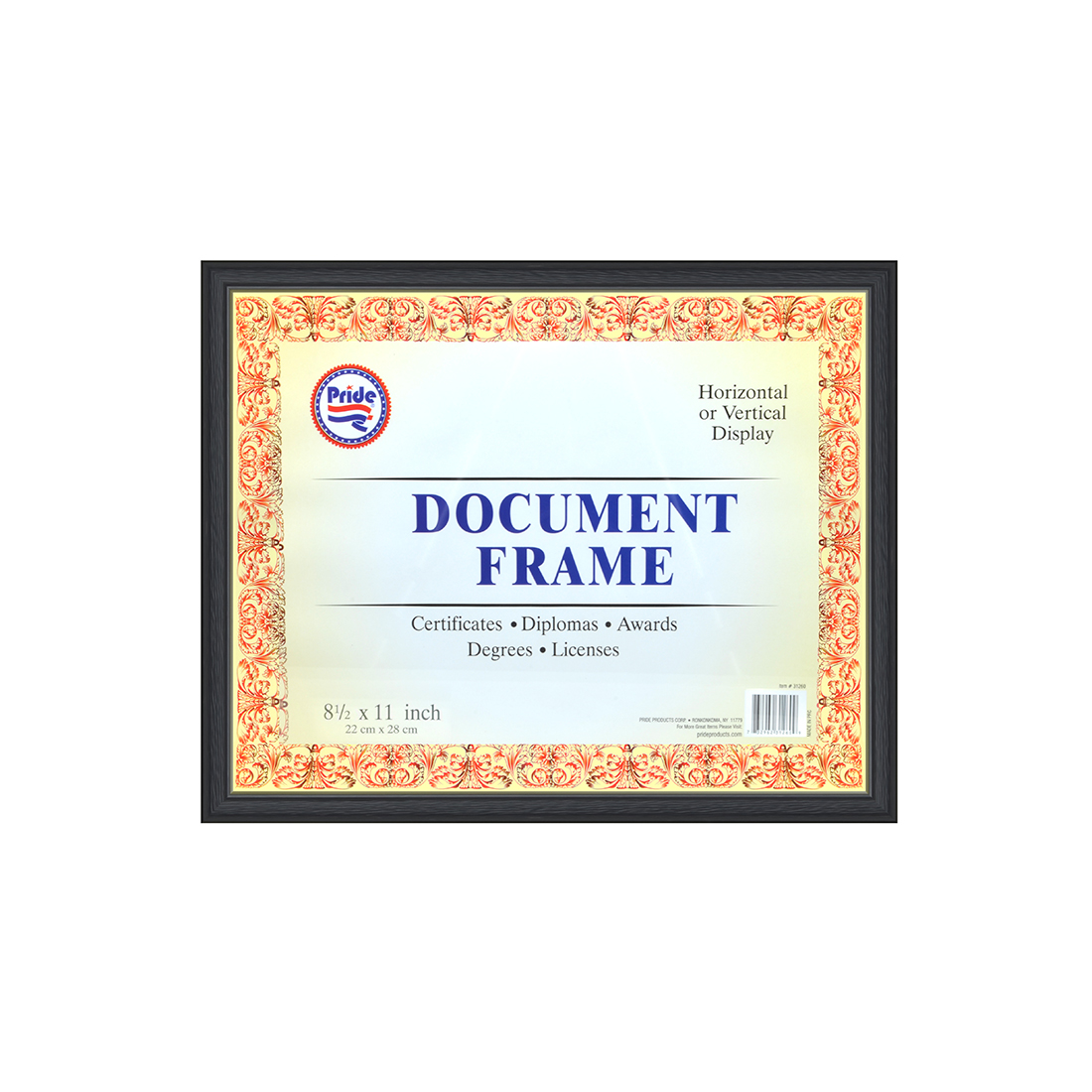 View DOCUMENT/CERTIFICATE FRAME 8.5 X 11 INCH