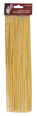 View BAMBOO SKEWERS 100 CT 12 INCH HEAVY DUTY
