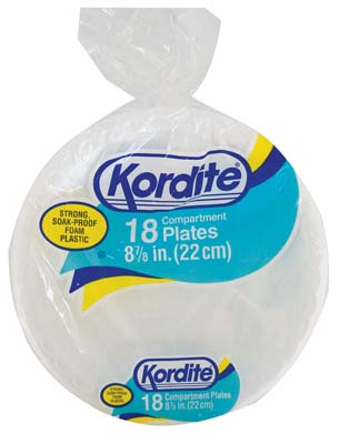 View KORDITE FOAM COMPARTMENT PLATE   18 CT 8.875 INCH