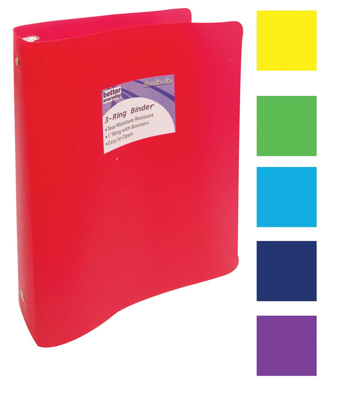 View BINDER 1 INCH 3 RING ASSORTED COLORS