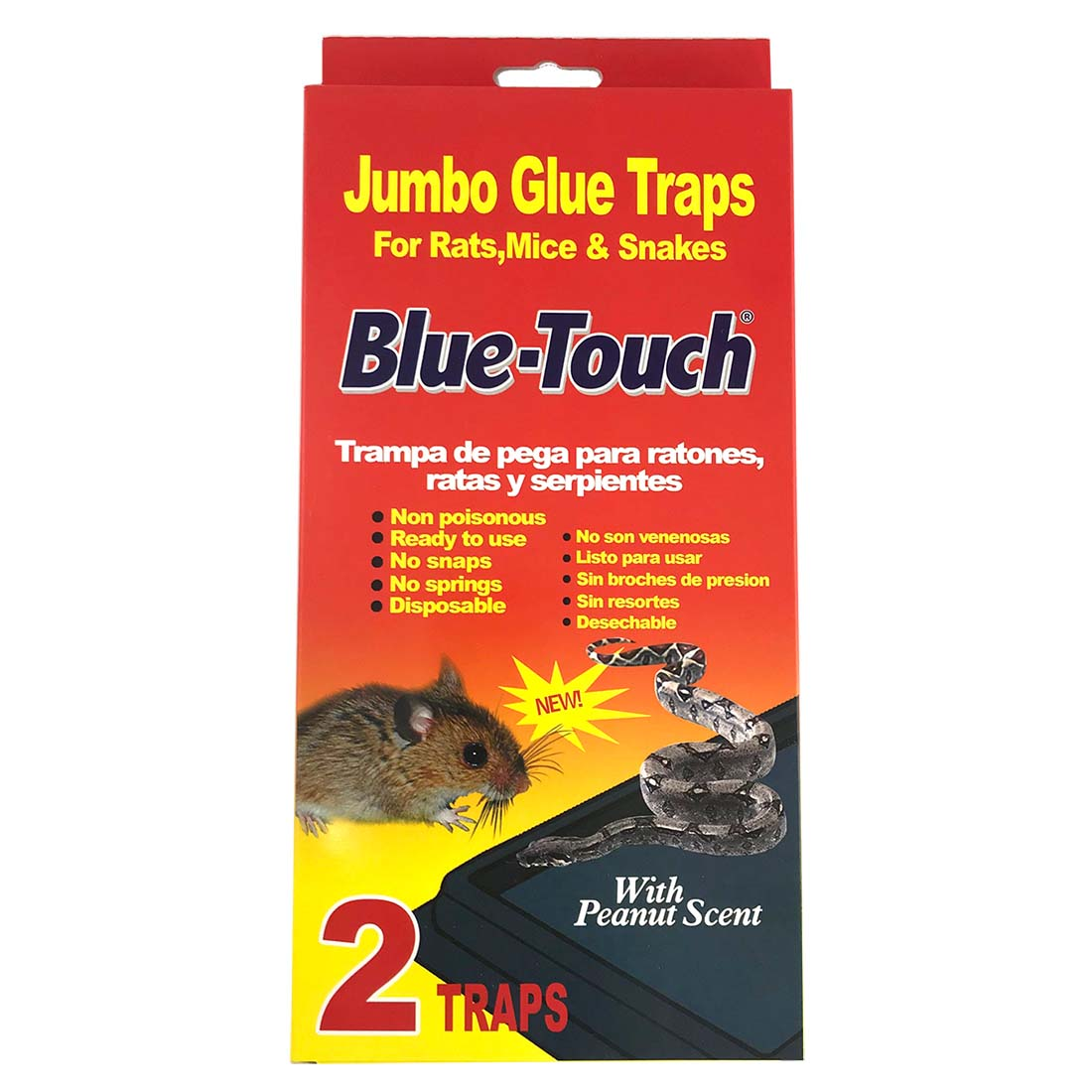 View GLUE TRAPS 2 PK JUMBO IN DISPLAY RATS/MICE/SNAKES PEANUT SCENT