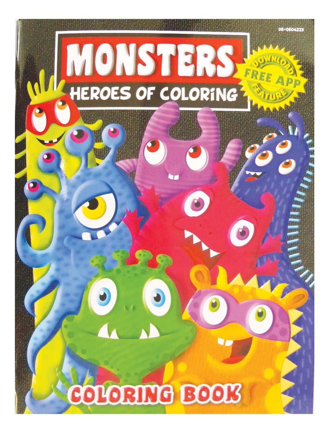 View COLORING BOOK 96 PG MONSTERS
