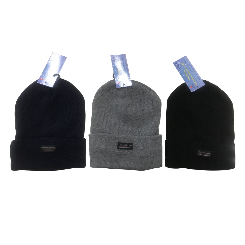 View UNISEX CAP WITH FLEECE LINER ASSORTED COLORS