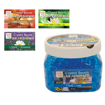View CRYSTAL BEAD AIR FRESHENER 8 OZ JAR