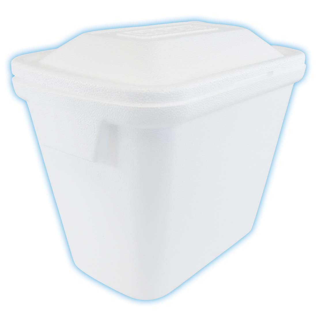 "View STYROFOAM COOLER 17"" X 12"" X 14 3/8"" HOLDS 24 CANS WHITE"
