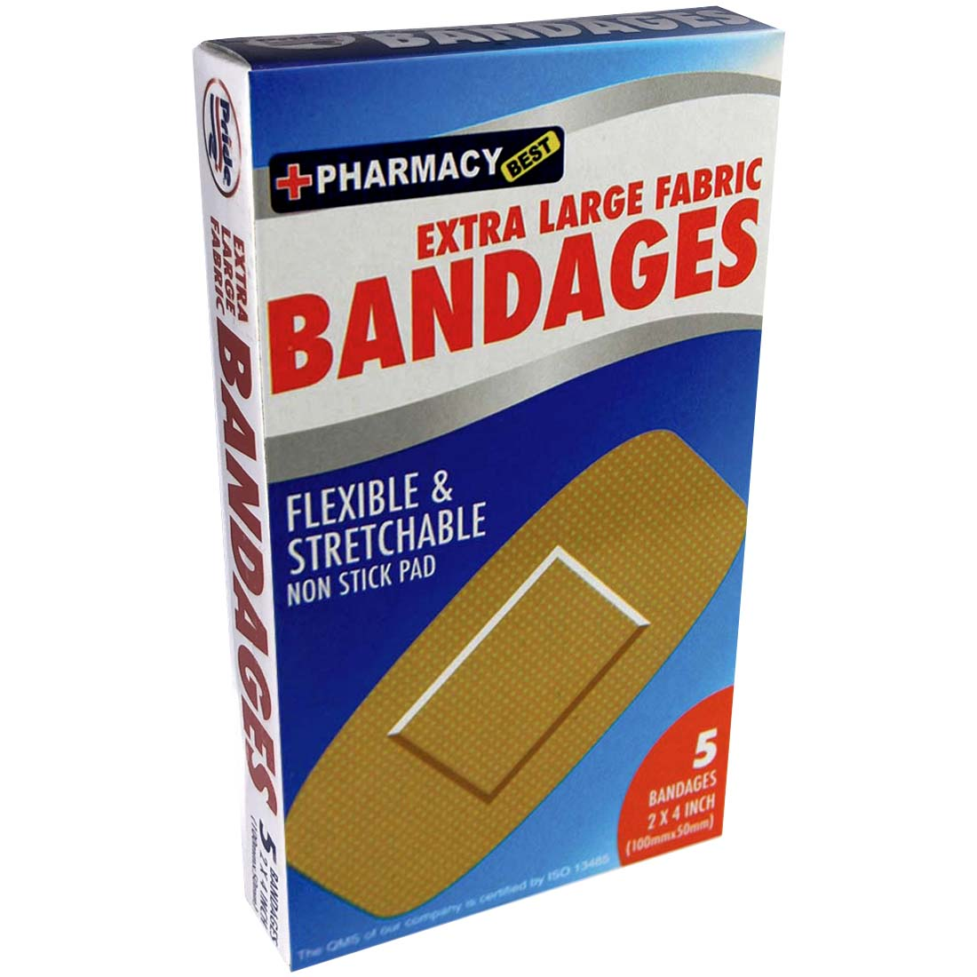View BANDAGES 5 COUNT 2 X 4 INCH EXTRA LARGE FLEXIBLE FABRIC