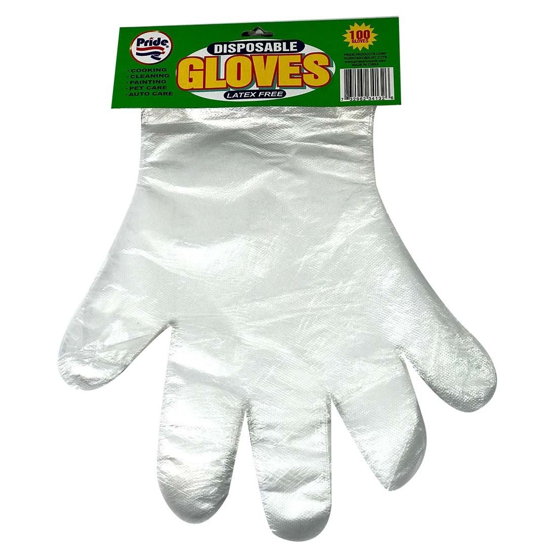 View DISPOSABLE PLASTIC GLOVES 100 COUNT ONE SIZE