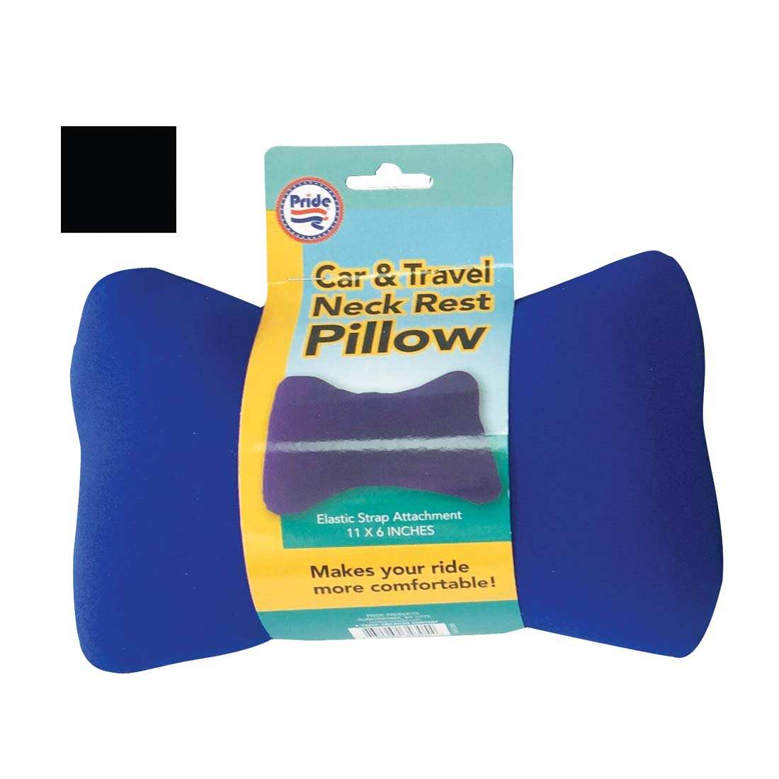 View TRAVEL PILLOW 11 X 6 INCHES ASSORTED COLORS