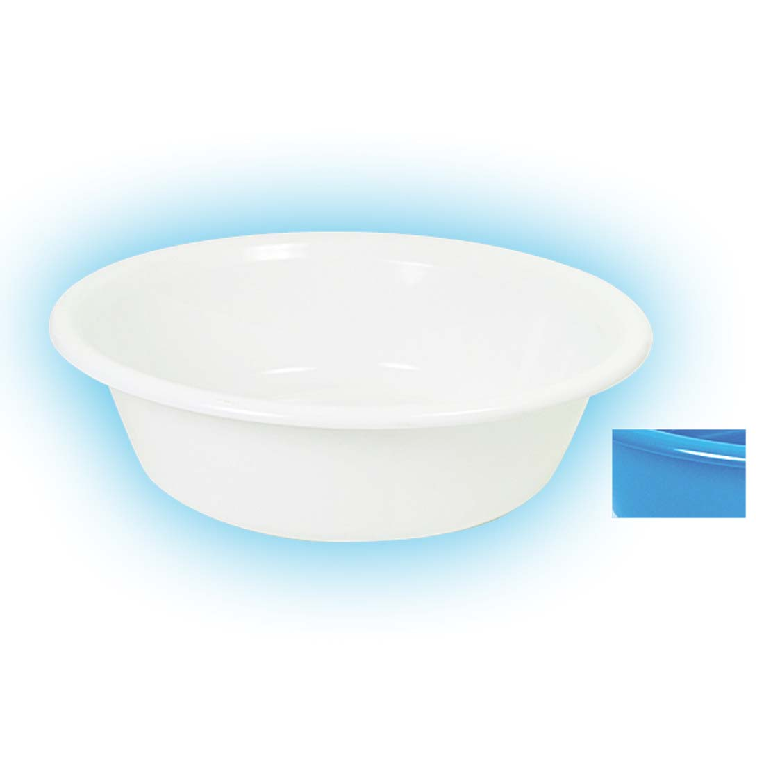 View BASIN ROUND 18 INCH WHITE AND BLUE ASSORTED