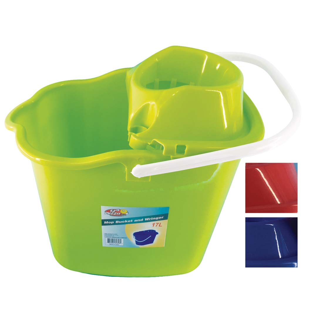 View MOP BUCKET WITH RINGER 4.5 GALLON WITH WHEELS ASSORTED COLORS