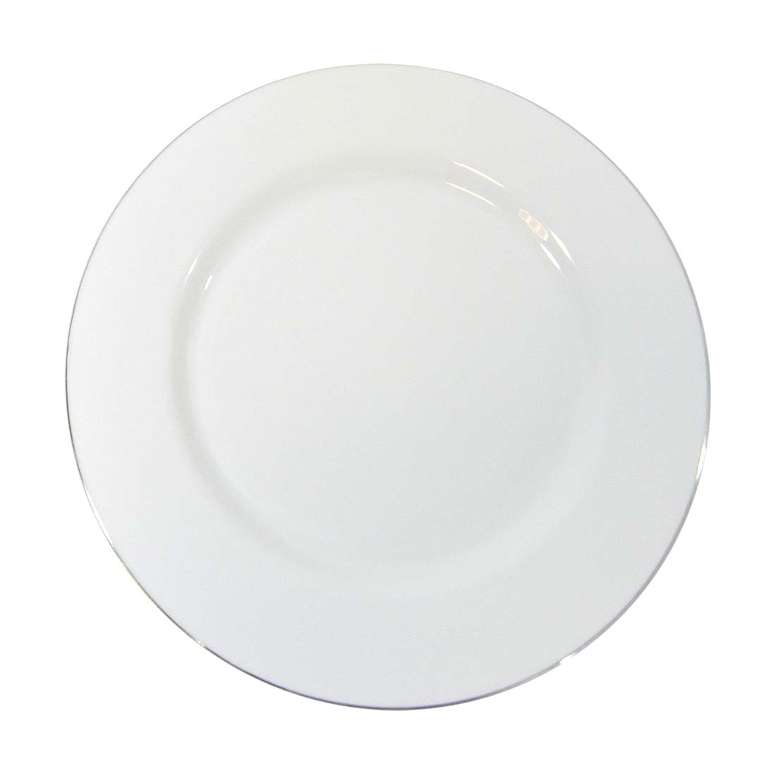 View CROWN DINNERWARE LUNCH PLATE 10 PK 9 INCH DISTINCTIVE COLLECTION WHITE/SILVER