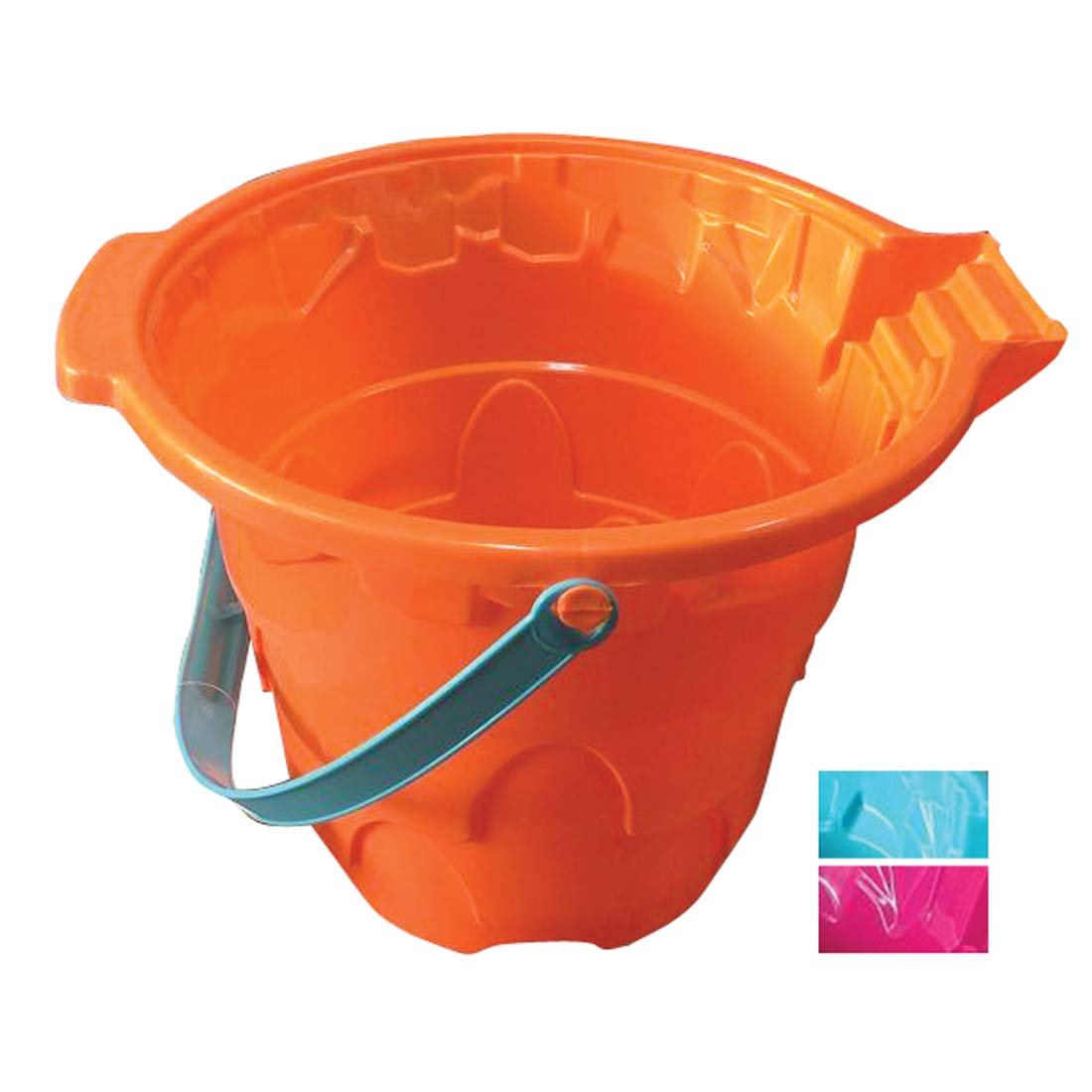 View BEACH BUCKET 11 X 9 INCHES ASSORTED COLORS