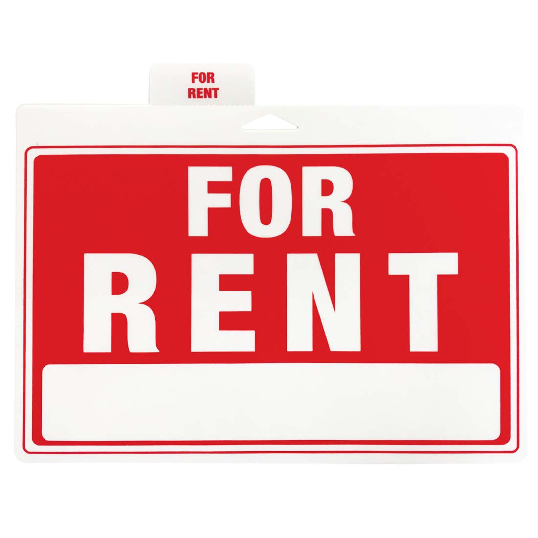 "View PLASTIC SIGN ""FOR RENT"" 12 X 9 INCHES"