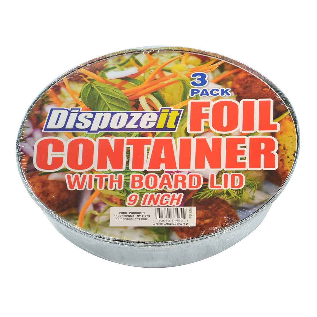 View FOIL CONTAINER 9 INCHES WITH BOARD LID3 PACK
