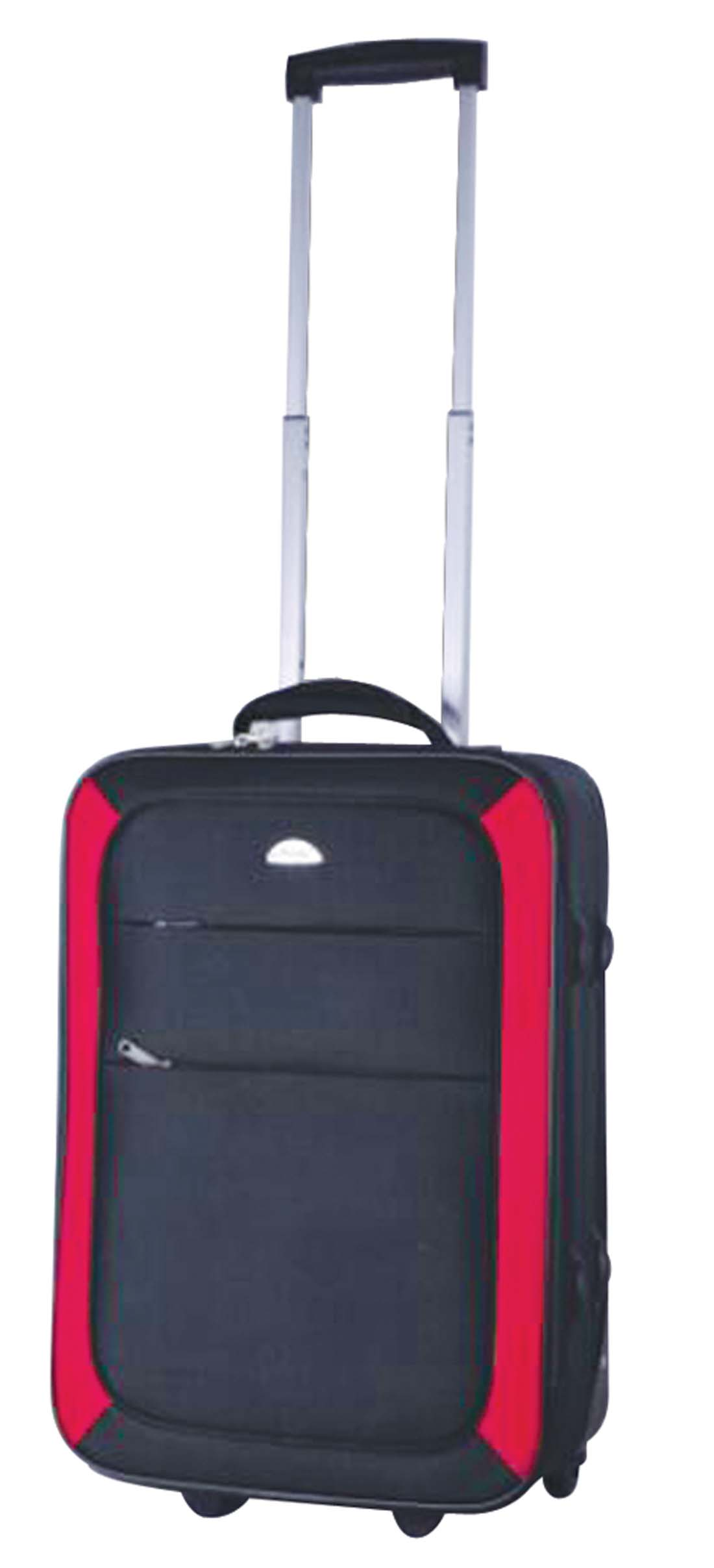 View SOFT LUGGAGE 20 INCH 2 WHEELS BLACK WITH RED