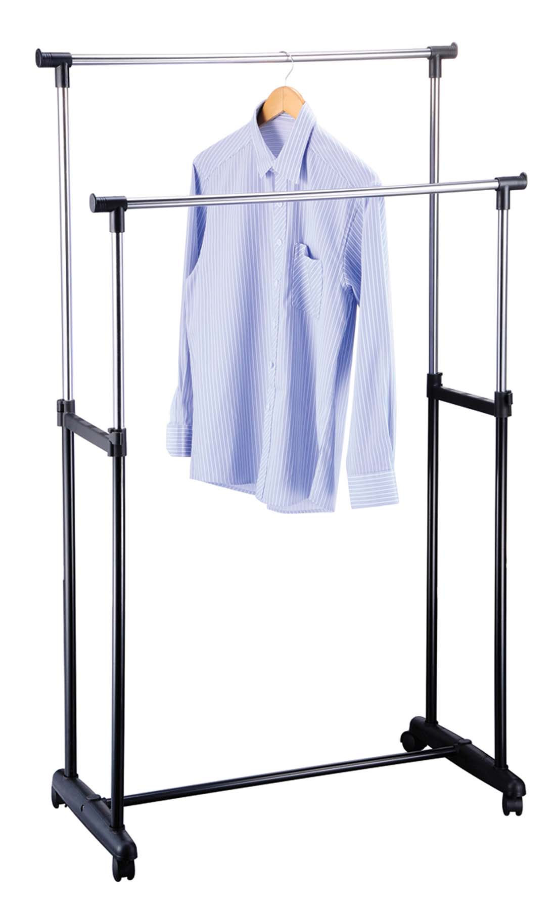 View CLOTHING RACK 33X17X63 INCHES DOUBLE POLE ADJUSTABLE