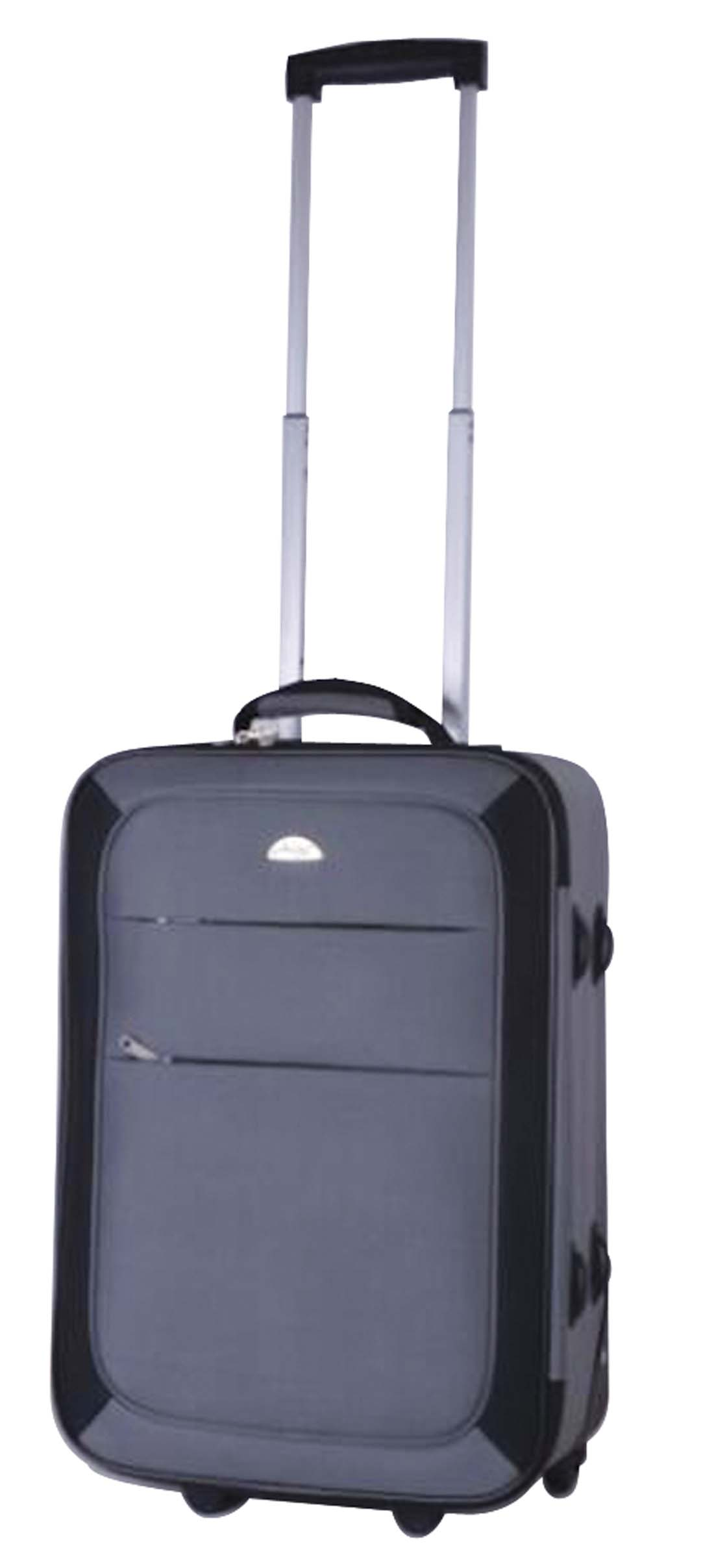 View SOFT LUGGAGE 20 INCH 2 WHEELS GREY WITH BLACK
