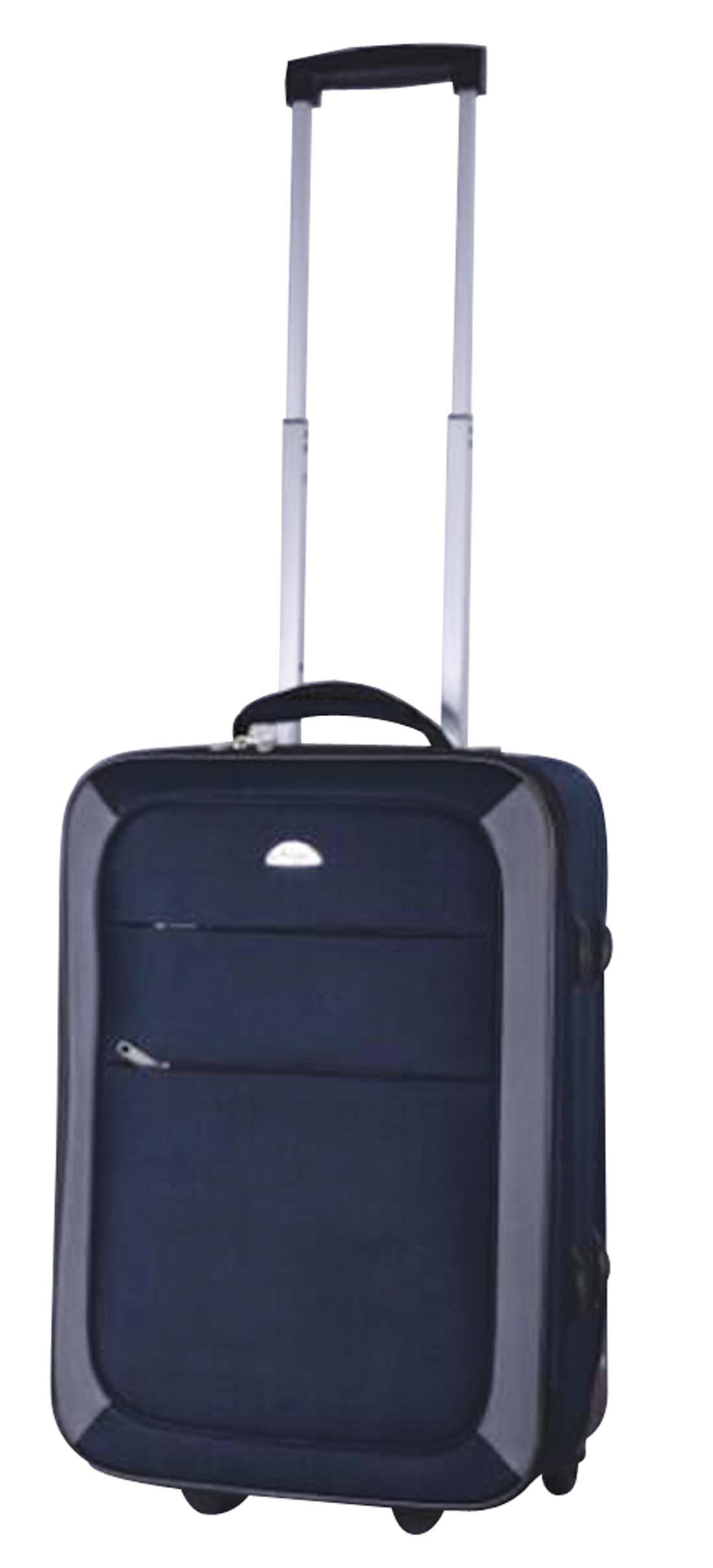 View SOFT LUGGAGE 20 INCH 2 WHEELS NAVY WITH GREY