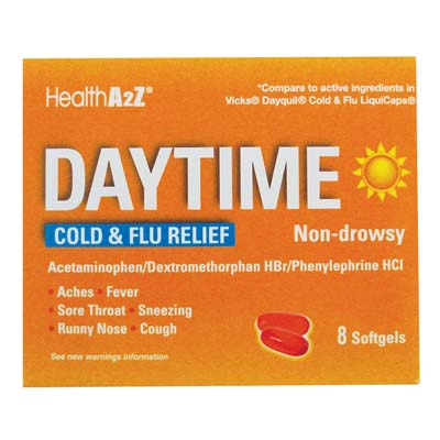 "View DAYTIME COLD&FLU 8 COUNT SOFTGELS NON- DROWSY "" COMPARE TO VICKS DAYQUIL"""