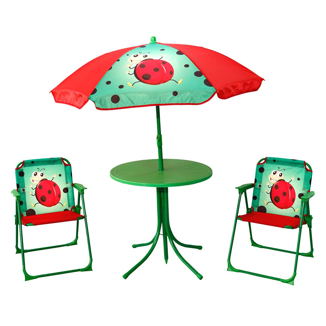 f8f8b016311f SIMPLY FOR HOME PATIO SET FOR KIDS 4 PCS LADY BUG DESIGNS