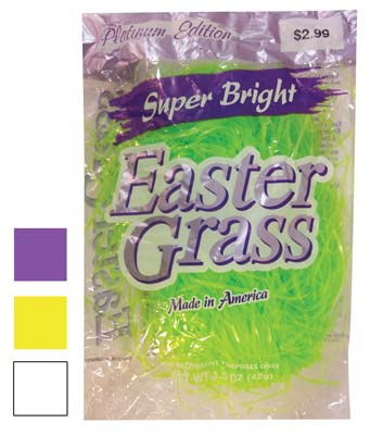 View EASTER TINSEL GRASS 1.75 OUNCE GREEN WHITE PURPLE YELLOW  PREPRICED $2.99