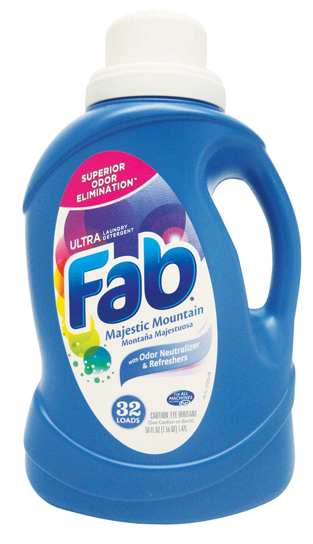 View FAB LIQUID LAUNDRY DETERGENT 50 OZ 32 LOADS MAJESTIC MOUNTAIN **MADE IN USA**